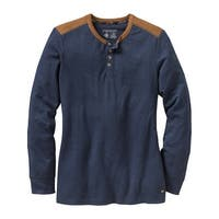 Legendary Whitetails Ladies Fieldpoint Sueded Trim Henley - Navy