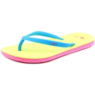 Nike Solarsoft Thong 2 Youth Open Toe Synthetic Green Thong Sandal