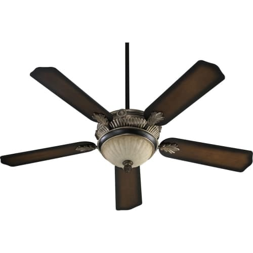 """Quorum International 48525 5 Blade 52"""" 3 Speed 3 Light Ceiling Fan ? Light and Blades Included"""