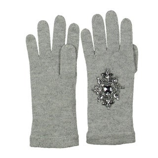 Magaschoni Womens Everyday Gloves Cashmere Embellished - o/s