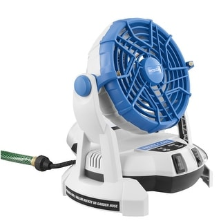 Arctic Cove MBF0181 18-Volt Bucket Top Misting Fan with 2 Speeds and Quiet Pump (Battery and Charger Included)(Refurbished)