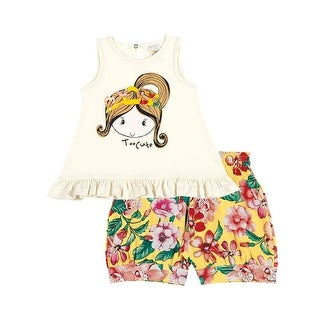 Baby Girl Set Infant Tank Top and Floral Shorts Outfit Pulla Bulla 3-12 Months