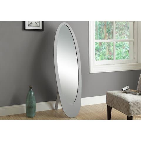 Monarch 3359 Grey Contemporary Oval Frame 59nch Mirror