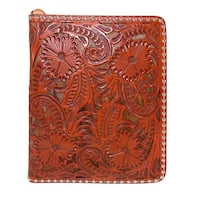 3 D Belt Company Antiqued Leather Bible Cover with Hair-On Inlay - One size