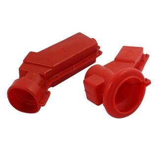 1 Pair Transformer Insulated Jacket Silicone Rubber 10KV Voltage Resistance Red
