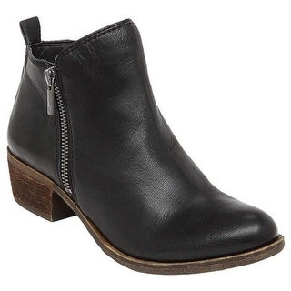 Lucky Brand Women's Basel Bootie Black Leather