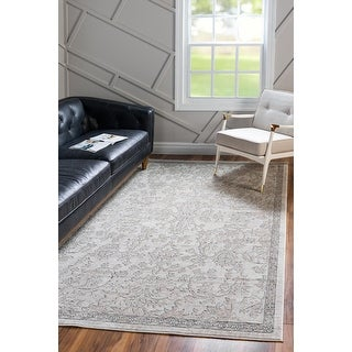 Link to Porch & Den Rask Scrolling Floral Area Rug Similar Items in Farmhouse Rugs