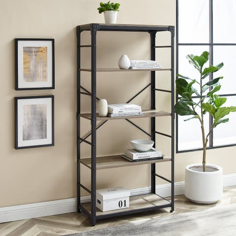Carbon Loft Minnie 64-inch Angle Iron Bookshelf
