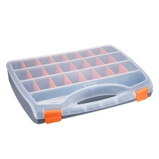 18-inch Tool Box with Tray and Organizers Includes 26 Small Parts Boxes