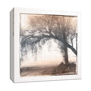 """PTM Images 9-147047  PTM Canvas Collection 12"""" x 12"""" - """"Foggy Light III"""" Giclee Rural Roads & Paths Art Print on Canvas"""