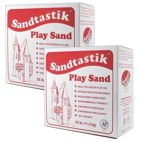 Sparkling White Play Sand, 25 lb (11.3 kg) Per Pack, 2 Packs