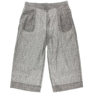Eileen Fisher Womens Petites Pull On Pleated Wide Leg Pants