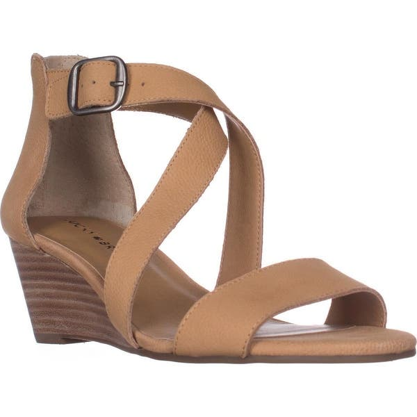 9a12142d827c Shop Lucky Brand Jenley Strappy Wedge Sandals