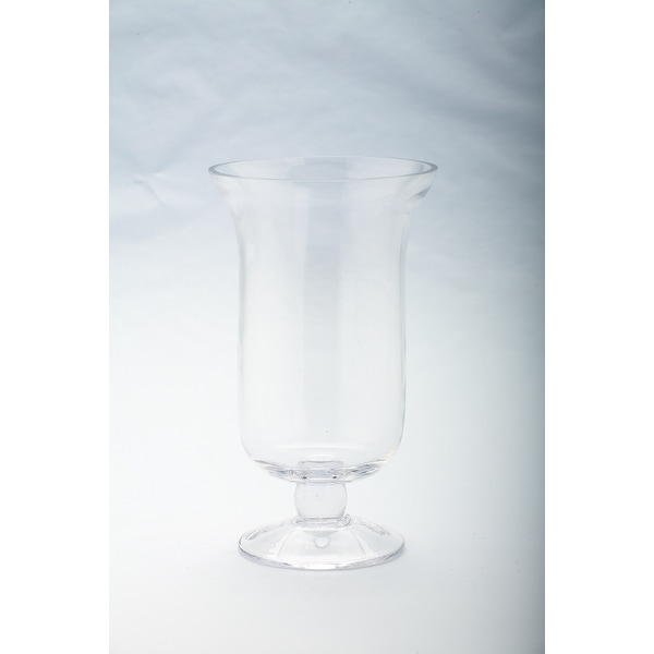 "10"" Clear Hand Blown Solid Hurricane Glass Candle Holder - N/A"
