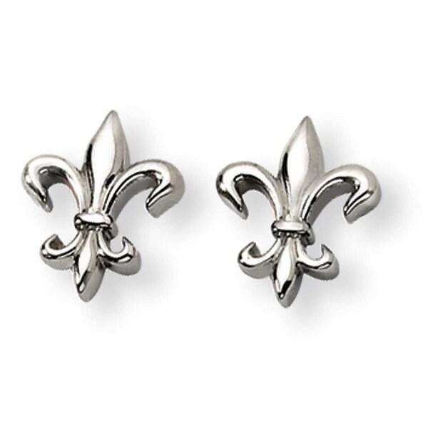 Chisel Anium Fleur De Lis Earrings