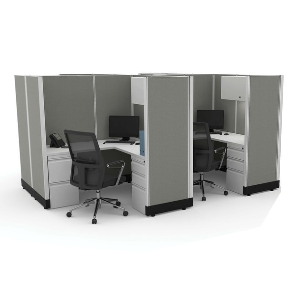 Modular Office Desk Furniture 67H 4pack Cluster Powered. Opens flyout.