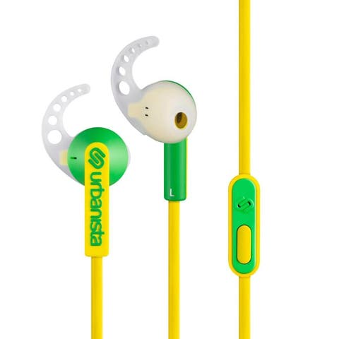 Urbanista Rio Sport Earphones with GoFit Silicone Wings, Remote and Mic