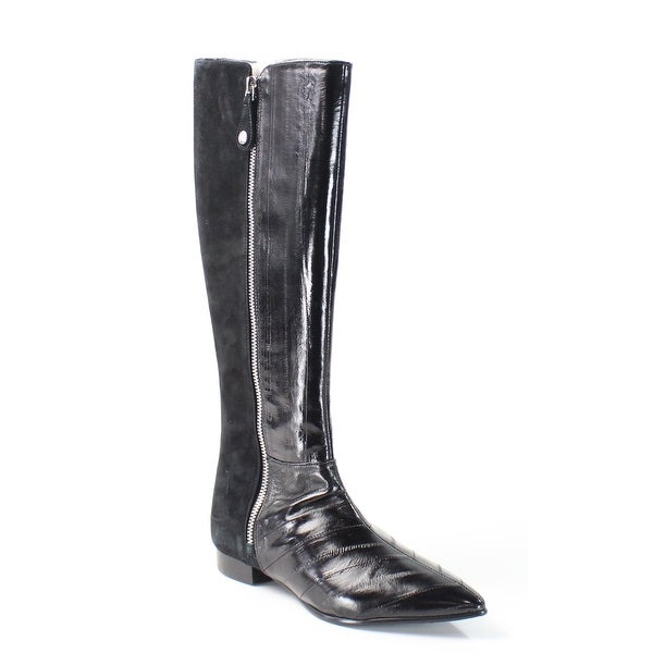 J.Renee NEW Black Glider Shoes Size 5.5M Knee-High Leather Boots