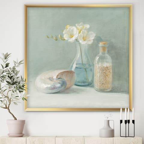 Designart 'Pastel Bath II' Nautical & Beach Framed Art Print