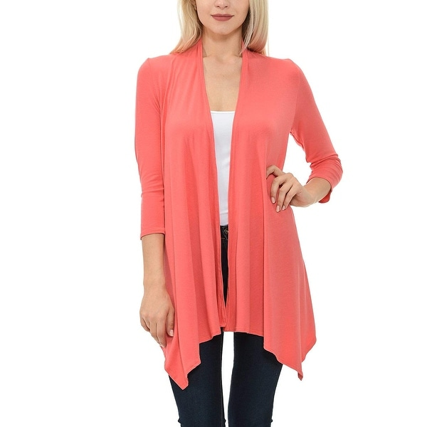 Shop Shamaim Orange Womens Size 1X Plus Open-Front Cardigan Sweater - Free  Shipping On Orders Over  45 - Overstock.com - 27015280 b5673b216