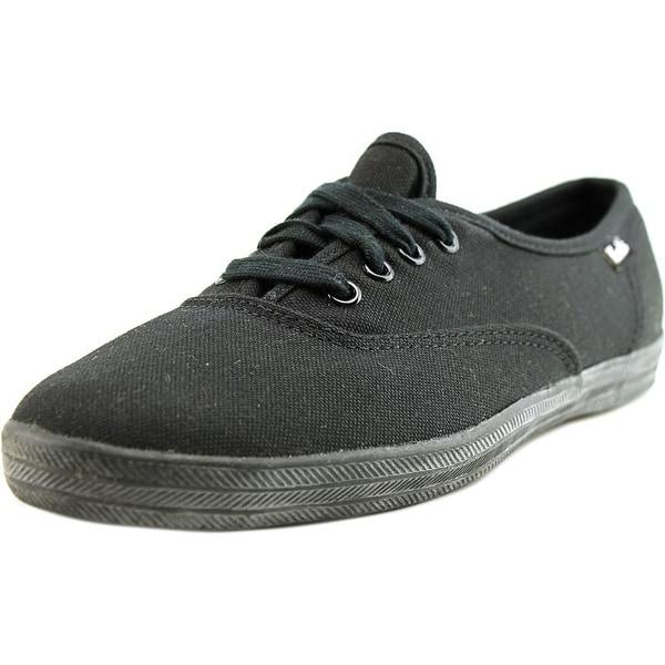 4e242cc28e2427 Shop Keds Champion Women SS Round Toe Canvas Black Sneakers - Free ...