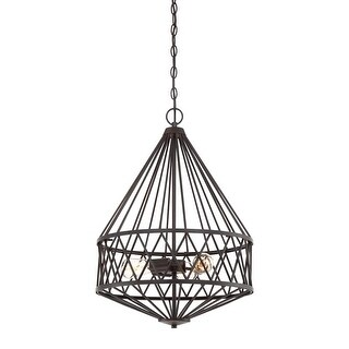 "Designers Fountain 91131 Arris 3 Light 18"" Wide Multi Light Pendant"