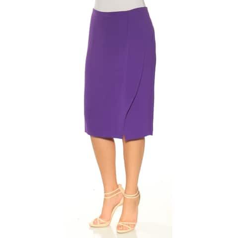 RALPH LAUREN Womens Purple Below The Knee Pencil Skirt Size: 6