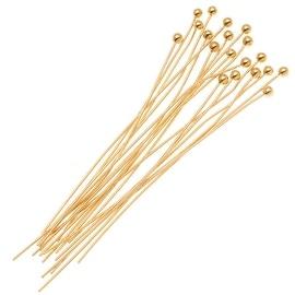 Fancy 14K Gold Filled 1.5mm Ball Head pins 24 Gauge 1.5 Inch (10)