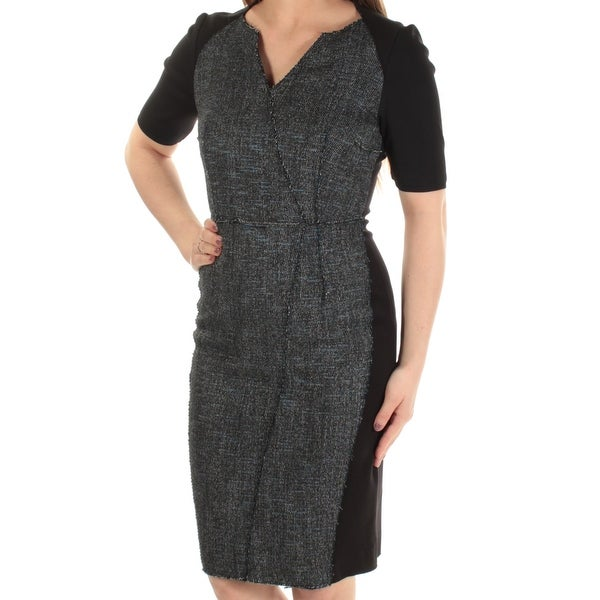 dc70daa250 Shop Womens Black Color Block 3 4 Sleeve Above The Knee Sheath Dress Size   ONE SIZE - On Sale - Free Shipping Today - Overstock.com - 22642767