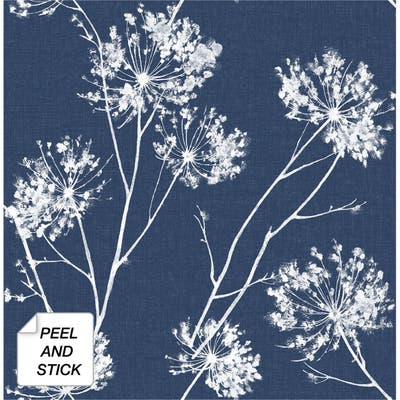 NextWall One O'Clocks Botanical Peel and Stick Removable Wallpaper