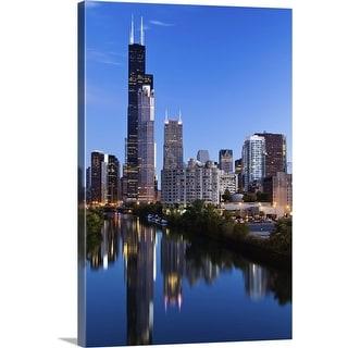 """Chicago, Illinois"" Canvas Wall Art"