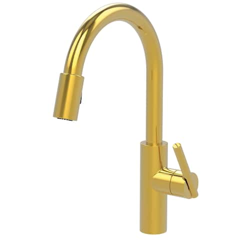 Newport Brass 1500-5103 East Linear Pull-Down Spray Kitchen Faucet with Magnetic Docking System -