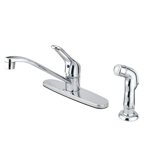 Kingston Brass FB56.SP Wyndham 1.8 GPM Centerset Kitchen Faucet - Polished Brass