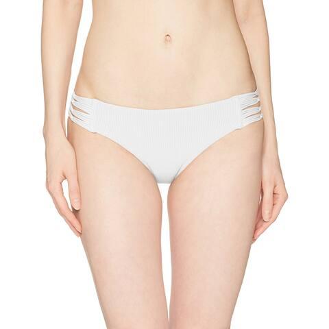 Body Glove White Womens Size Large L Strappy Swim Bikini Bottom
