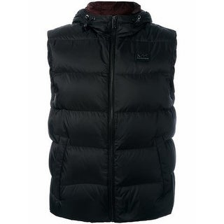 Michael Kors NEW Black Mens Size XL Hooded Full Zip Quilted Vest