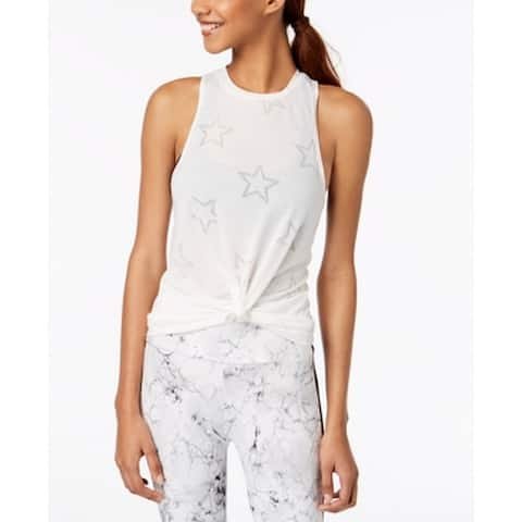 Material Girl White Women's Size Small S Star Print Tank Cami Top 449