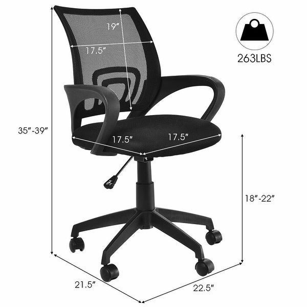 Mesh Chair Ergonomic Executive Swivel Office Chair Computer Desk Black 3 Styles