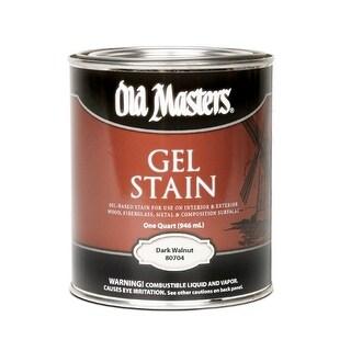 Old Masters 80704 Gel Stain, Dark Walnut, Quart