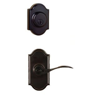 Weslock 1740U-RH-1771 Right Handed Single Cylinder Keyed Entry Bordeau Door Leverset and 1771 Deadbolt Combo Pack with Premiere