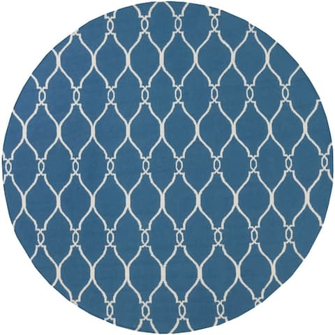 Hand-Woven Doris Moroccan Trellis Wool Area Rug