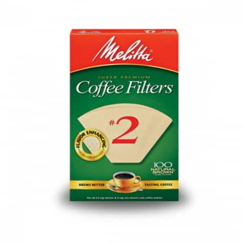 Melitta 622752 Cone Coffee Filter, #2, Natural Brown, 100-Count