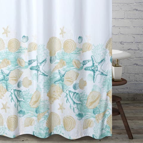 Barefoot Bungalow Grand Bahama Shower Curtain