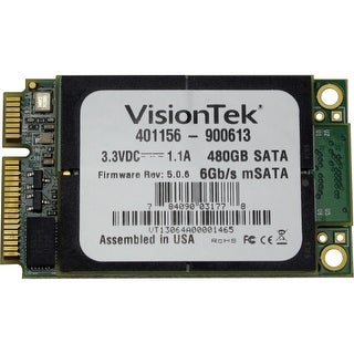 VisionTek 900613 Visiontek 480 GB Internal Solid State Drive - mini-SATA - 540 MB/s Maximum Read Transfer Rate - 425 MB/s