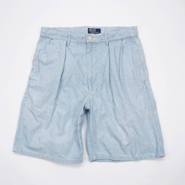 e11d65f5fa Shop POLO RALPH LAUREN USA Flag LOGO Pleated Front Golf Shorts Mens ...