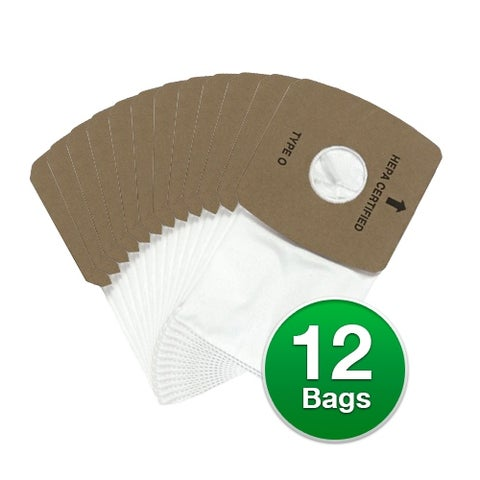 Riccar Type O Genuine HEPA Vacuum Bags For Butler Portable Canister Vacuums - 12 Count