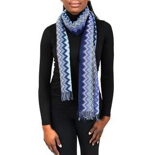 Missoni SC31PSD5928 0002 Purple/Blue Wool Blend Womens Scarf