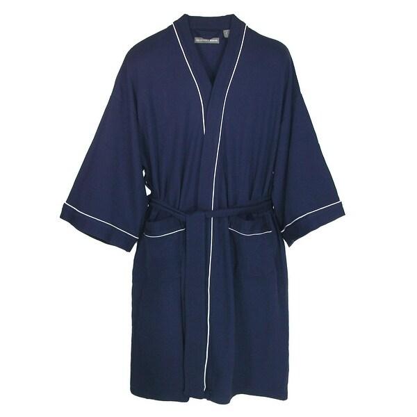 Geoffrey Beene Men's Waffle Weave Kimono Robe