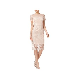Jax Womens Cocktail Dress Sequined Cap Sleeves