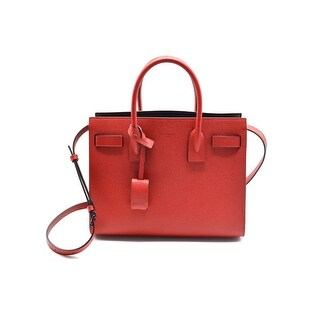 Saint Laurent Grained Leather Baby Sac De Jour Red Tote Bag