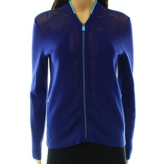 Lauren Ralph Lauren NEW Blue Women's Size Small S Full-Zip Knit Jacket